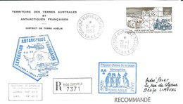 TAAF-Dumont D'Urville-T.Adélie: Lettre Avec Timbre Poste Aérienne N°127 D10 Base De Départ Des Raids - 21/01/1993 - Lettres & Documents