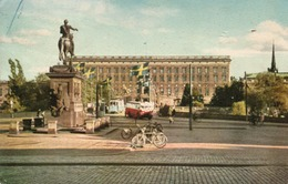 STOCKHOLM-GUSTAV  ADOLF S  SQUARE - VIAGGIATA 1950 - Svezia