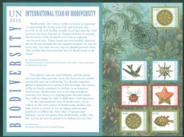 United Nations Vereinten Nationen UNO ONU 2010, FDC First Day Card, International Year Of Biodiversity - Centre International De Vienne