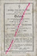 En 1871 Et 1885 Guellebecque Et Pradelles (59)  Constantin DELORY Et  Sophie DEGRENDEL - Décès