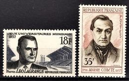 FRANCE 1957 - LOT Y.T. N° 1120 / 1121  - NEUFS** /1 - France