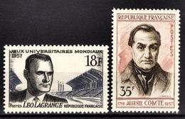 FRANCE 1957 - LOT Y.T. N° 1120 / 1121  - NEUFS** - France