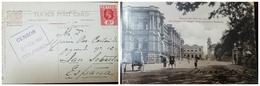 O) 1916 CEYLON. KING GEORGE V 6c, POST OFFICE AND ENTRANCE TO QUEEN'S HOUSE POSTAL CARD, CENSOR -COLOMBO - Sri Lanka (Ceylon) (1948-...)