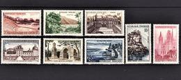 FRANCE 1957 - SERIE Y.T. N° 1124 A 1131  - NEUFS** /1 - France