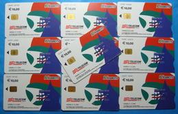 Serie 00098-4,6 Italian Army In Kosovo Lot 10 Chip Phone CARDS 10 Euro Used Operator TELECOM ITALIA *RADIO WEST* - Kosovo