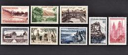 FRANCE 1957 - SERIE Y.T. N° 1124 A 1131  - NEUFS** /3 - Neufs