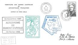 TAAF - Dumont D'Urville-T.Adélie: Lettre Avec Timbre N°152 Dumont D'Urville - 15/02/1993 - Lettres & Documents