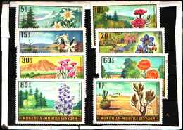 5923BIS ) Mongolia - Posta 1969 Yvert 487/94 MNH** Fiori -MNH** - Mongolia