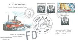 """TAAF - Dumont D'Urville-T.Adélie: Lettre """"L'Astrobale"""" Avec Timbres N°165 Globe Challenge 1992 Et N°163 - 21/02/1993 - Lettres & Documents"""