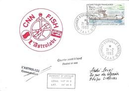 TAAF - Dumont D'Urville-T.Adélie: Lettre L'Astrobale Avec Timbre N°158 Chaland L'Aventure - 21/02/1993 - Lettres & Documents