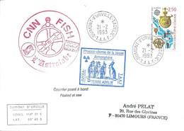 """TAAF - Dumont D'Urville-T.Adélie: Lettre """"L'Astrobale"""" Avec France N°2755 Christophe Colomb - 21/02/1993 - Lettres & Documents"""