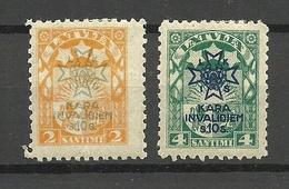 LETTLAND Latvia 1923 Michel 101 - 102 * - Letonia