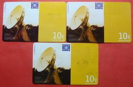Serie B-39,49,59-0, German Army In Kosovo Lot 3 Prepaid Phone CARD 10 Euro Used Operator KBIMPULS *Satellite* - Kosovo