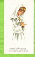 Image Religieuse -  J'ai Reçu Le Dieu Vivant, Mon Coeur Est Plein De Joie.  - Collégiale De Champeaux - Images Religieuses