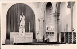 B&W RPPC - Real Photo Véritable - Toronto Ontario Canada - Church St. Mary Magdalene - Unused - VG Condition - 2 Scans - Toronto