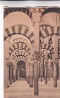 1900'S CPA SPAIN. CORDOBA. INTERCOLUMNIO EN EL INTERIOR DE LA MEZQUITA. SEÑAN FOTO. HAUSER Y MENET.- BLEUP - Eglises Et Cathédrales