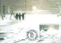 TAAF - Dumont D'Urville-T.Adélie: Carte Avec Timbre Poste Aérienne N°135 L'au Revoir à La Station Charcot - 01/01/1995 - Lettres & Documents