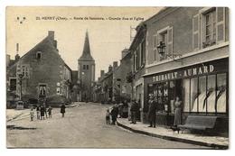 HERRY (18) - Route De Sancerre - Grande Rue Et Eglise (animé) - France