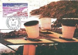 TAAF - Dumont D'Urville-T.Adélie: Carte Postale Avec Timbre N°199 Station SODAR - 01/01/1995 - Lettres & Documents