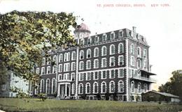 New York - Bronx - St. Johns College - Written 1910 - Stamp Postmark - 2 Scans - Bronx