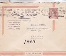 1943 COMMERCIAL COVER- IMPRESIONES DE LUJO Y COMERCIALES JUNCAL. CIRCULEE BUENOS AIRES ARGENTINE. BANDELETA PARLA- BLEUP - Argentine