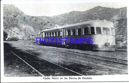 115917 ARGENTINA CORDOBA COCHE MOTOR EN LAS SIERRA TREN TRAIN POSTAL POSTCARD - Argentine