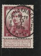 COB N° 122 Oblitération Schaerbeek 1914 - 1912 Pellens