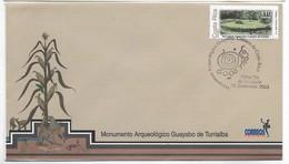 COSTA RICA 2003, SPD GUAYABO DE TURRIALBA SITIO ARQUEOLOGICO, ARQUEOLOGÍA, PAISAJES, SOBRE PRIMER DÍA - Costa Rica