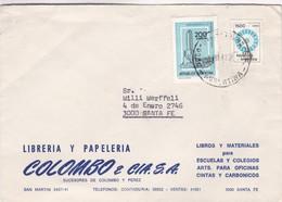 1982 COMMERCIAL COVER- LIBRERIA Y PAPELERIA COLOMBO E CIA. CIRCULEE SANTA FE, ARGENTINE.- BLEUP - Lettres & Documents