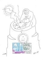 TAAF - Dumont D'Urville-T.Adélie: Carte Illustrée PEV Avec Timbre N°134 Mission Erebus - 01/01/1995 - Lettres & Documents