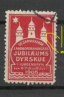 DENMARK 1905 Reklamemarke Kobenhavn Vignette O NB! Tear At Right Margin! Einriss Am Rand! - Vignetten (Erinnophilie)