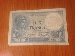 FRANCE -  10 F Minerve 1926 (port Offert ) - 1871-1952 Anciens Francs Circulés Au XXème