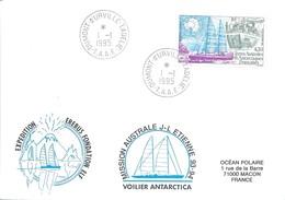 TAAF - Dumont D'Urville-T.Adélie: Lettre Avec Timbre N°134 Mission Erebus - 01/01/1995 - Lettres & Documents