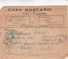 1940'S COMMERCIAL COVER-CASA MOSCARDI, SASTRERIA. CIRCULEE ARGENTINE.- BLEUP - Argentine