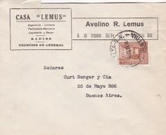 1939 COMMERCIAL COVER-CASA LEMUS, BAZAR. CIRCULEE PUNTA ALTA TO BUENOS AIRES ARGENTINE.- BLEUP - Lettres & Documents