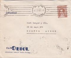 1939 COMMERCIAL COVER-CASA OBIOL. CIRCULEE BAHIA BLANCA TO BUENOS AIRES ARGENTINE. BANDELETA PARLANTE.- BLEUP - Lettres & Documents