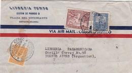 1944 COMMERCIAL COVER- LIBRERIA POMPO. CIRCULEE COLOIMBIA TO ARGENTINE. BANDELETA PARLANTE- BLEUP - Colombie
