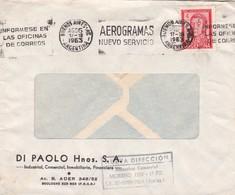 1963 COMMERCIAL COVER-DIU PAOLO HNOS SA, INMOBILIARIA. CIRCULEE BUENOS AIRES ARGENTINE. BANDELETA PARLANTE.- BLEUP - Lettres & Documents