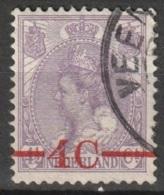 1921 Opruimingsuitgifte Wilhelmina 4ct Op 4,5ct. NVPH 106 - Periode 1891-1948 (Wilhelmina)