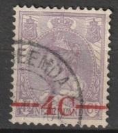 """1921 Opruimingsuitgifte Wilhelmina 4ct Op 4,5ct. """"SCHEEMDA"""" NVPH 106 - Periode 1891-1948 (Wilhelmina)"""