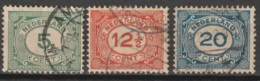 1922 Cijfers, Numbers.  NVPH 107-109  Cancelled/gestempeld - Periode 1891-1948 (Wilhelmina)