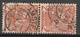 1923 NVPH 111 Paartje Gestempeld - Periode 1891-1948 (Wilhelmina)