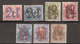1923 Opruimingsuitgifte NVPH 114-120 -  Cancelled/gestempeld - Periode 1891-1948 (Wilhelmina)