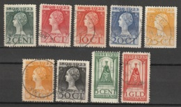 1923 Jubileum NVPH 121-129 Gestempeld - Luxe - Periode 1891-1948 (Wilhelmina)
