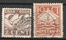 1924 Reddingswezen NVPH 139-140   Cancelled/gestempeld - Periode 1891-1948 (Wilhelmina)