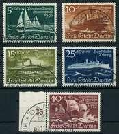 DANZIG 1938 Nr 284-288 Gestempelt X88D0AE - Dantzig