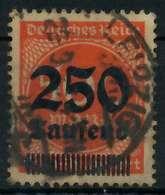 DEUTSCHES REICH 1923 HOCHINFLA Nr 296 Zentrisch Gestempelt G X899176 - Deutschland