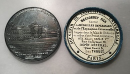 """France Napoleon III """"Palais De L' Industrie, Exposition Universelle Paris 1855"""" Medal By Caque.(medaille - Frankreich"""