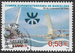 Spain SG4143 2005 Euromed Summit, Barcelona 53c Good/fine Used [40/32501/6D] - 1931-Today: 2nd Rep - ... Juan Carlos I