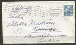 AUSTRIA. 1913. PERFIN ON COVER TO FINLAND. PERFIN P-S. TRANSITS & ARRIVALS ON REVERSE. - Lettres & Documents